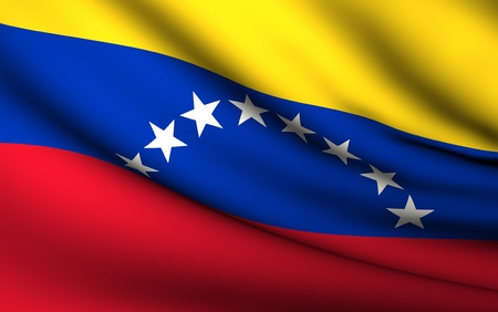 Flying Flag of Venezuela | All Countries Collection | photo