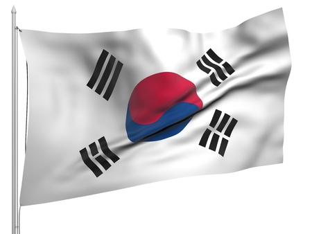 Flying Flag of South Korea - All Countries Collection photo