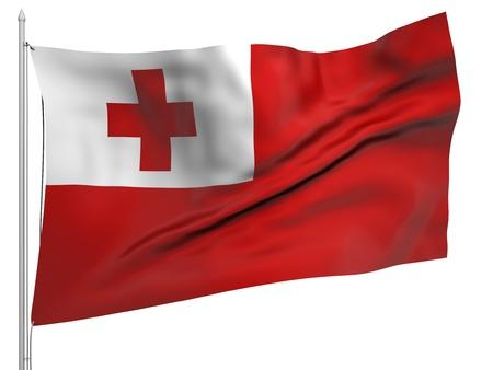 tonga: Flying Flag of Tonga - All Countries Collection