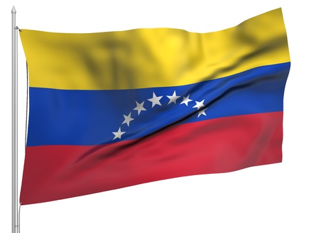 Flying Flag of Venezuela - All Countries Collection photo
