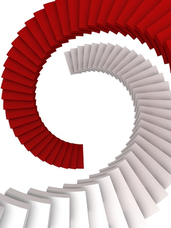spiral stairs: Color Stairs - Business & Career - Computer Art Series