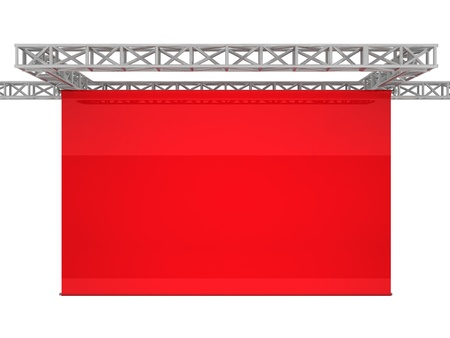 cinema screen: Red Cinema Projection Screen - Computer Art Series Stock Photo