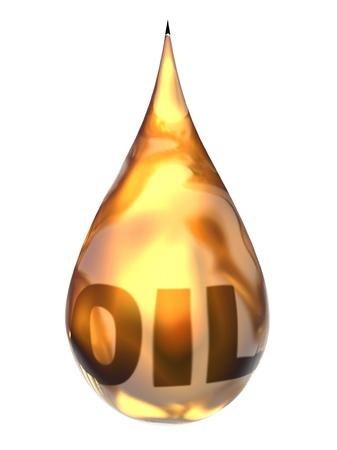 lubricant: Fresh Oil Drop - Computer Art Series