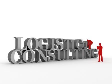 Logistics & Consulting  | Computer Art Series Stok Fotoğraf