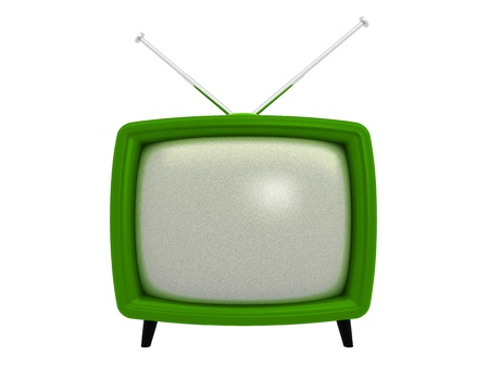 television antigua: TV antiguo   3D   Serie de objetos aislados Foto de archivo