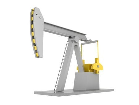 oilwell: Oil-derrick  | Computer Art 3D Series  - Isolated Image