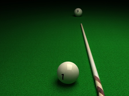 PoolSnooker Table, Ball and Cue - Billiard photo