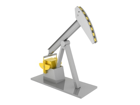 borehole: Oil-derrick  | Computer Art 3D Series  - Isolated Image