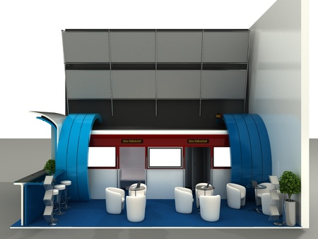 exhibition stand: Exhibition Stand Interior Sample  | Computer Art 3D Series