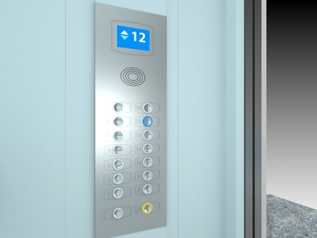 Elevator Interior  | Computer Art 3D Series