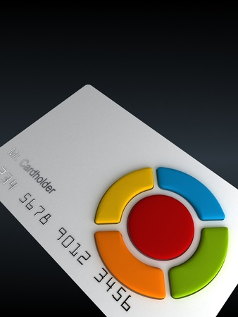 cardholder: Credit card - remote with buttons