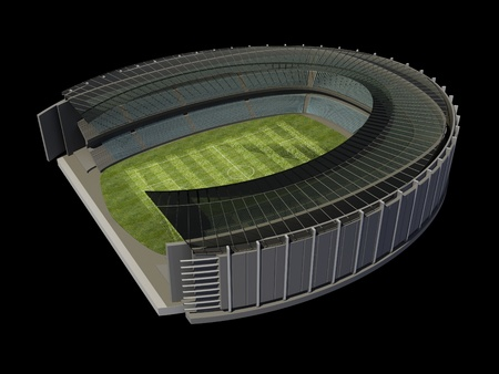 Structure of the Stadium with Soccer Field photo