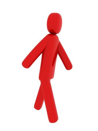 Red man walking - Social Themes Stock Photo - 10341555