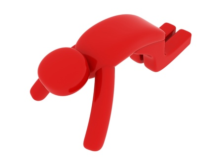 pictogramm: Red man praying - Social Themes