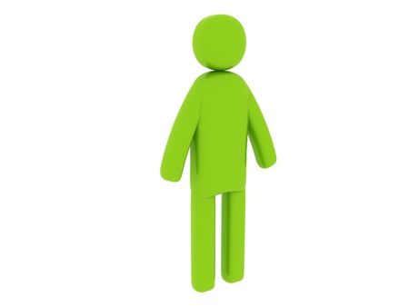pictogramm: Green man standing - Social Themes