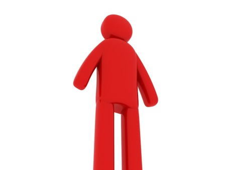 pictogramm: Red man standing - Social Themes Stock Photo