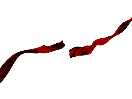 force of the wind: Cut red ribbon - 3D Object Series