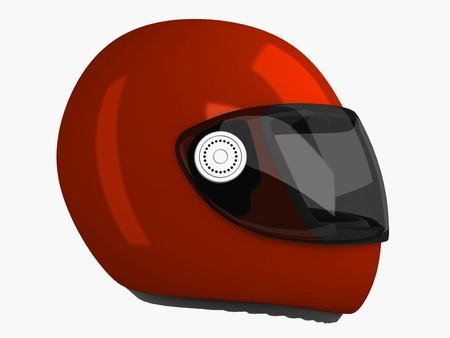 safeness: Moto Helmet . 3D  . Isolated Objects Series Stock Photo
