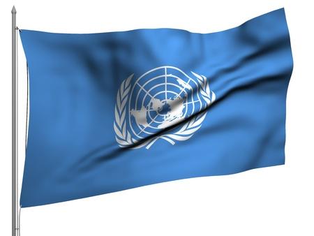 nazioni unite: Bandiera di volo delle Nazioni Unite - Tutta la Serie Bandiere Archivio Fotografico