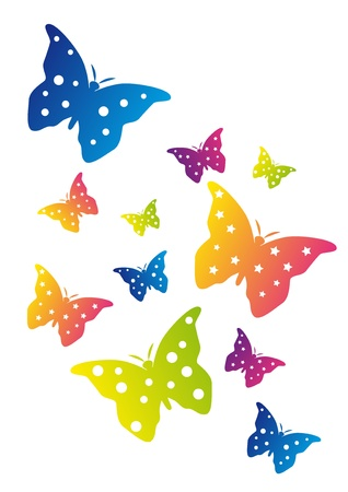 Color Butterflies Vector