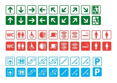 wc: Navigation Zeichen gesetzt Illustration