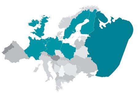 Vector Map of Europe Stock Vector - 12383522