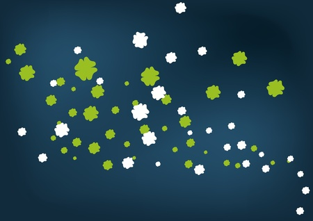 Clovers on the background 1 Vector