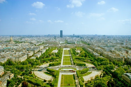 birdeye: Paris - Bird-eye view Stock Photo