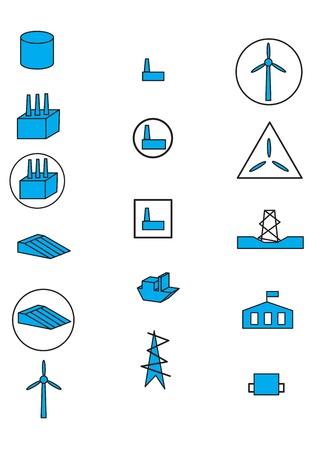 pictogramm: Energy Icons Illustration