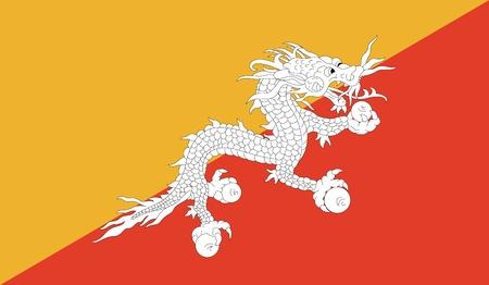 bhutan: Bhutan Vlag