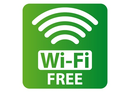wifi sign: Free Wi-Fi sign
