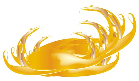 Juice splashes Stock Vector - 13015745