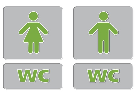 man and women wc sign: WC