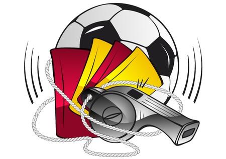 soccer referee: Soccer set Illustration