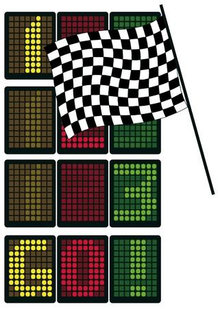 Formula 1 table Stock Vector - 13015861