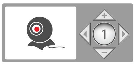 Webcam controls Stock Photo