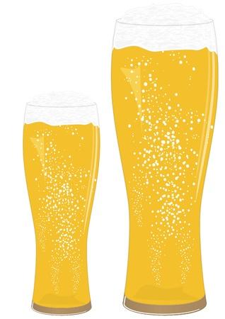 Beer glasses Stock Vector - 13015897