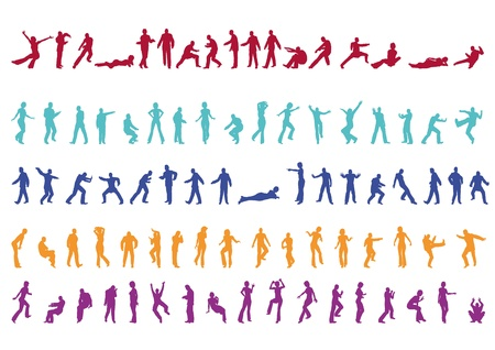 100 Silhouettes Professional Collection Vol  1 Vector