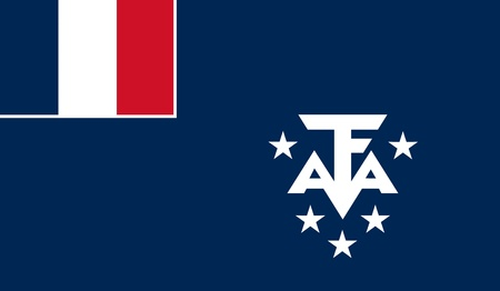 antarctic: French Southern and Antarctic Lands Flag Stock Photo