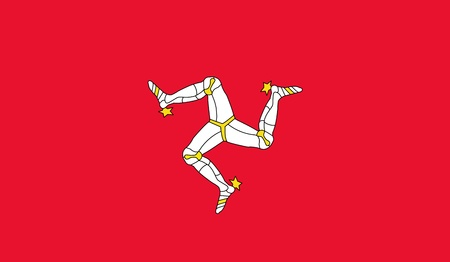 Isle of Man Flag Vector