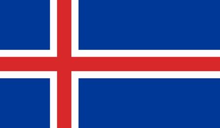 flag of iceland: Islandia Bandera Vectores