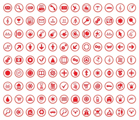 Multi-Subject Icon Set For Any Cases Vector