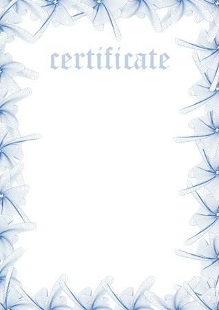 remplir: Mod�le de certificat - Remplir Illustration