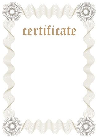 spachteln: Certificate Template - F�llen