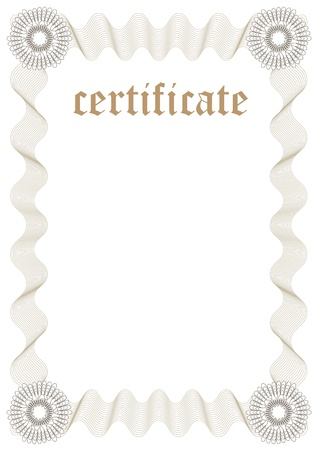 Certificate Template - Fill  Vector