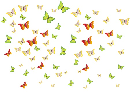Butterflies swarm Stock Vector - 13237284