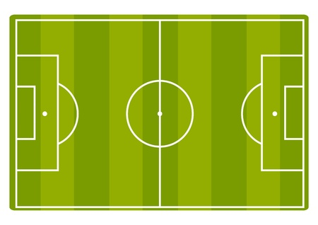 Soccer field Stock Vector - 13250493