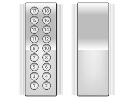 Elevator buttons Stock Vector - 13250516