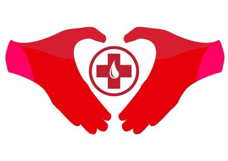 Blood Donation Emblem Template Çizim