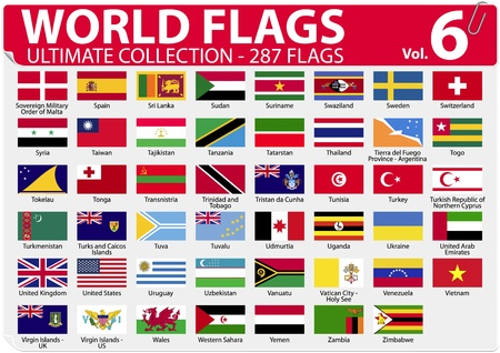 World Flags - Ultimate Collection - 287 flags - Volume 6 Stock Vector - 13250800